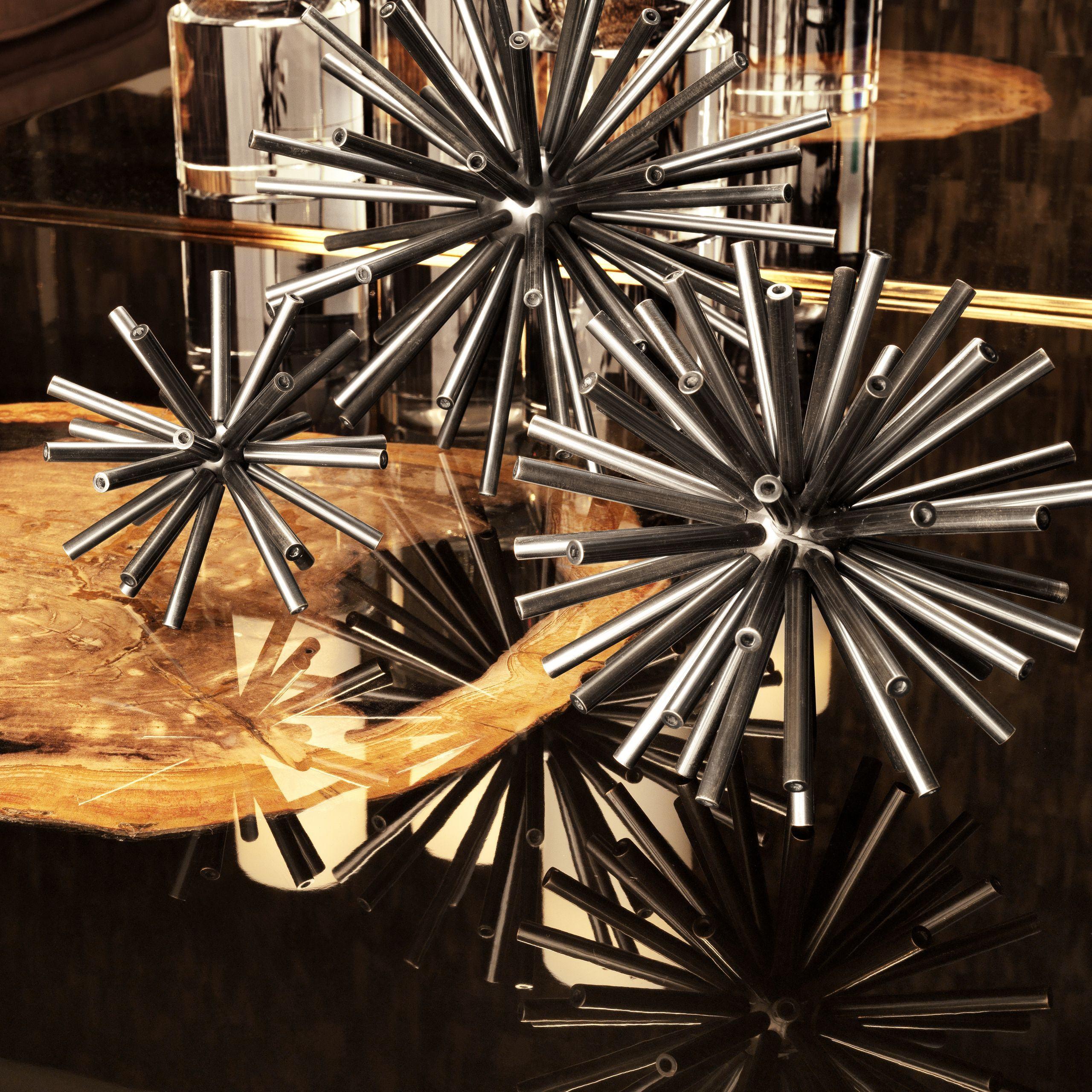 Набор из трёх декоративный элементов METEOR