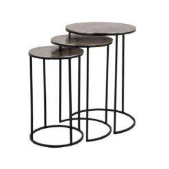 Набор из трех приставных столиков Nolan