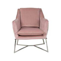 Кресло Aurelia Pink Velvet / Silver