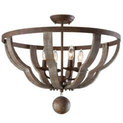 Потолочный светильник Wooden Quatrefoil
