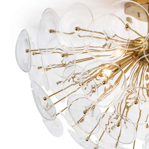 Потолочный светильник Poppy Glass Semi Flush