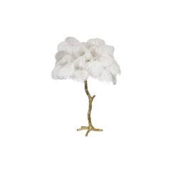 Настольная лампа PALM TREE белая золотистая отделка