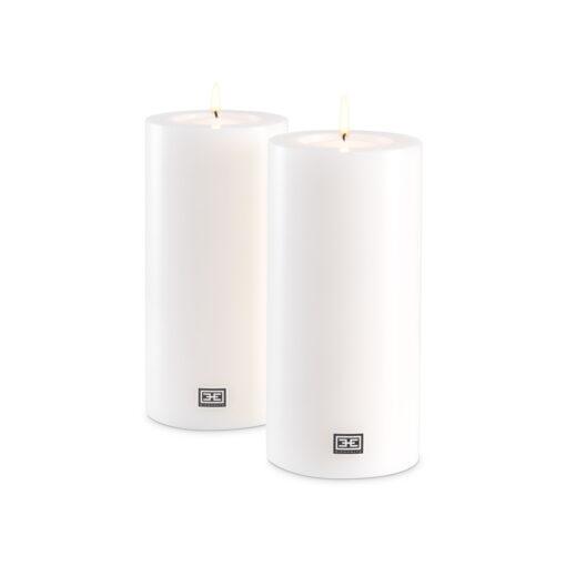 Набор из двух искусственных свечей ø 10 x H. 21 cm