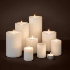Набор из четырёх искусственных свечей