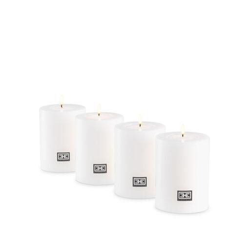 Набор из четырёх искусственных свечей ø 7 x H. 9 cm