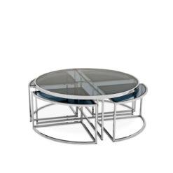 Журнальный столик PADOVA полированная нержавеющая сталь
