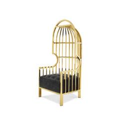 Кресло BORA BORA Золотистая отделка