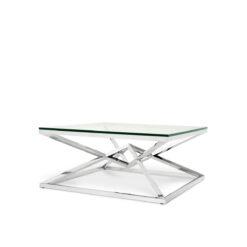Журнальный столик CONNOR полированная нержавеющая сталь