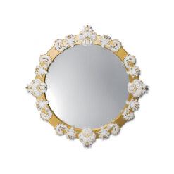 Настенное зеркало Round Large золотой глянец