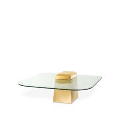 Журнальный столик ORIENT золотистая отделка