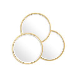 Зеркало SENSATION ROUND золотистая отделка