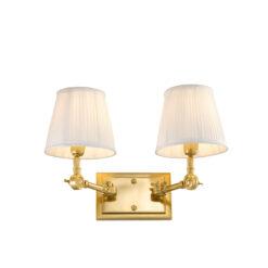 Настенная лампа WENTWORTH DOUBLE с белым абажуром
