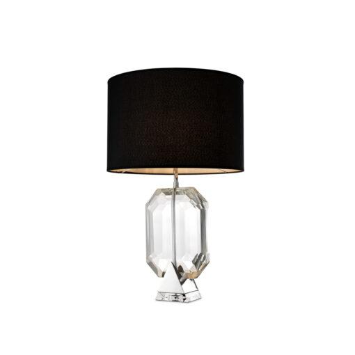 Настольная лампа EMERALD с черным абажуром