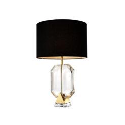 Настольная лампа EMERALD с черным абажуром золотистая отделка