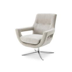 Вращающееся кресло FLAVIO светло-серый