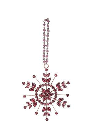 New Year Tree Decor A Red Snowflake