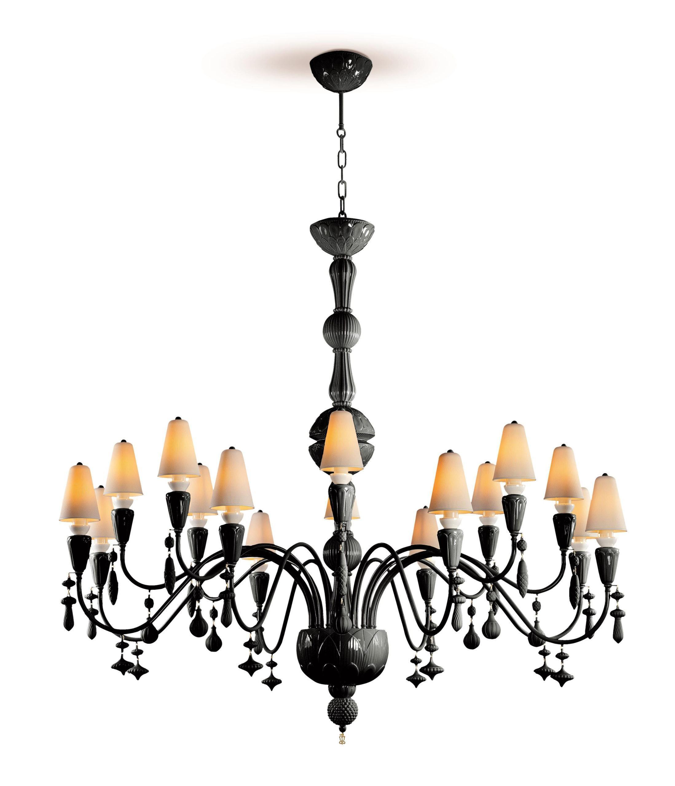 Люстра Ivy and Seed 16 Lights. Large Flat Model. Absolute Black