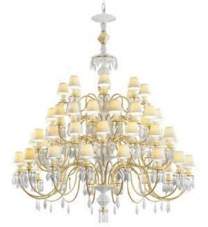 Belle de Nuit 56 Lights Chandelier. Golden Luster