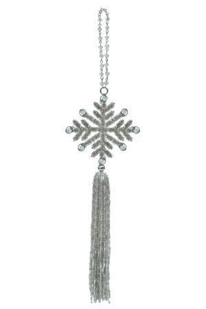 New Year Tree Decor A Snowflake with a tassel