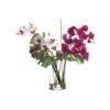 Цветочная композиция из орхидей и монстеры в вазе