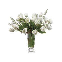 Тюльпаны ап уайт в вазе