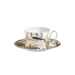 Чашка чайная с блюдцем TROPICAL FLOWER