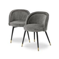 Набор из двух обеденных стульев CHLOÉ серый