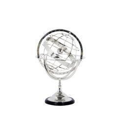 Декоративный Глобус L никель