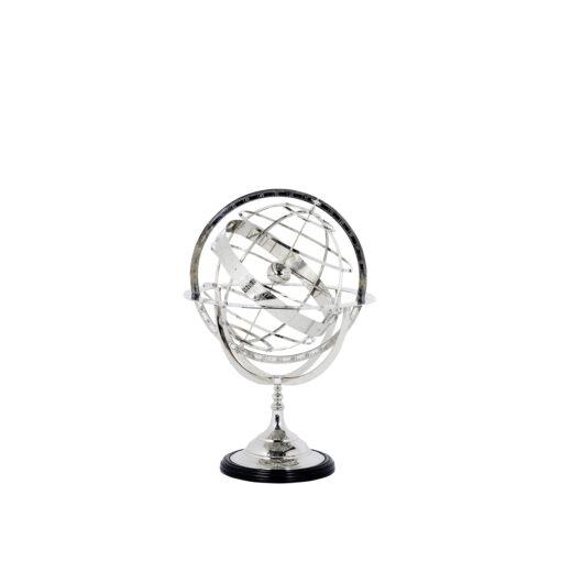 Декоративный Глобус S никель