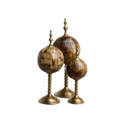 Набор из трёх статуэток LEONARDO коричневый