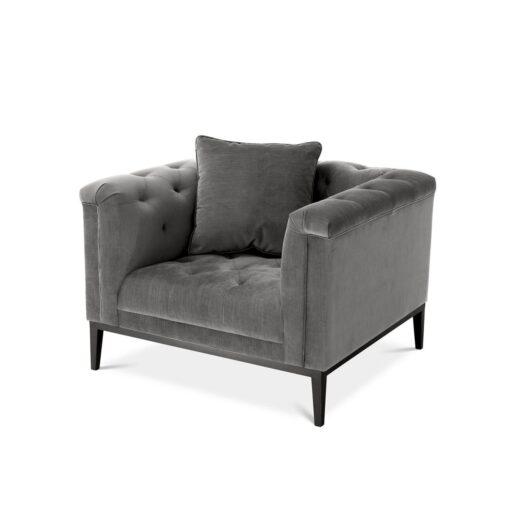 Кресло CESARE Тёмно-серый