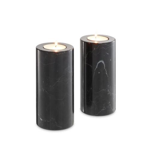 Набор из двух подсвечников TOBOR L чёрный