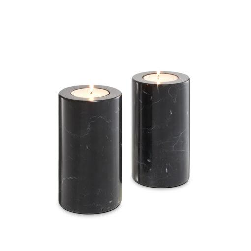 Набор из двух подсвечников TOBOR M чёрный