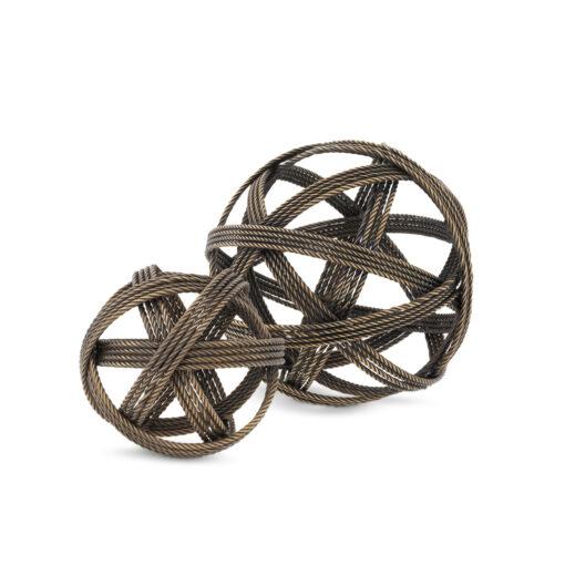 Набор из двух декоративных элементов MELVILLE состаренная латунь