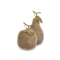 Набор из двух шкатулок APPLE & PEAR состаренная латунь