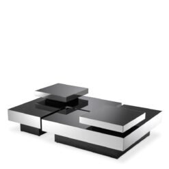 Набор из четырех кофейных столиков NIO полированная нержавеющая сталь