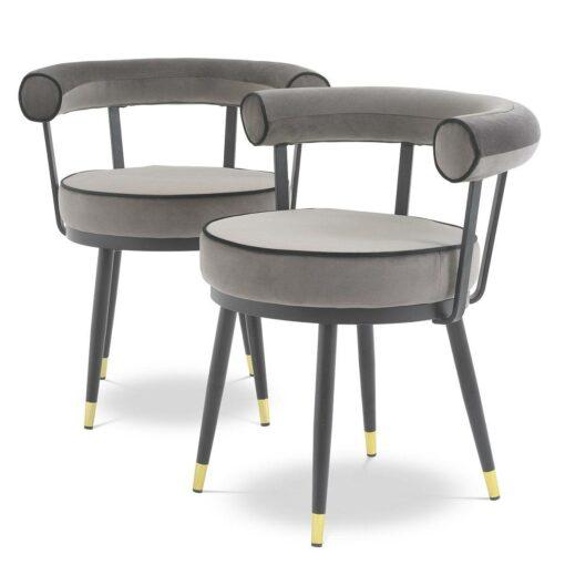 Набор из двух обеденных стульев VICO серый