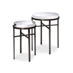 Набор из двух приставных столиков HOXTON бронзовая отделка