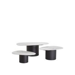 Набор из трех дизайнерских кофейных столиков Eichholtz Zane из Голландии