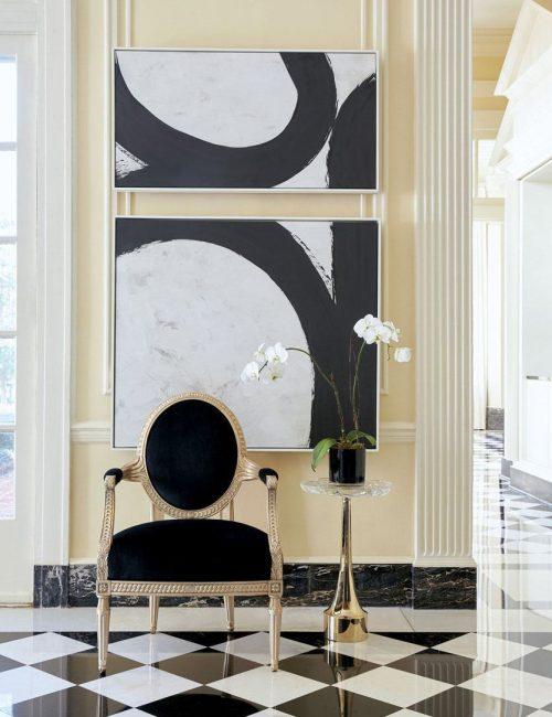 Классическое черное кресло Caracole